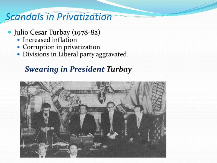 Scandals in Privatization