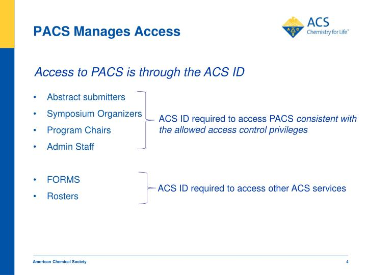 PACS Manages Access