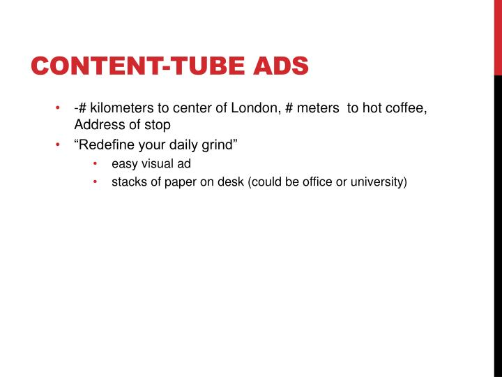 CONTENT-TUBE ADS