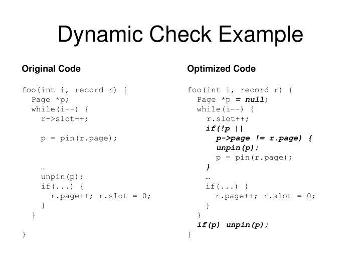 Original Code