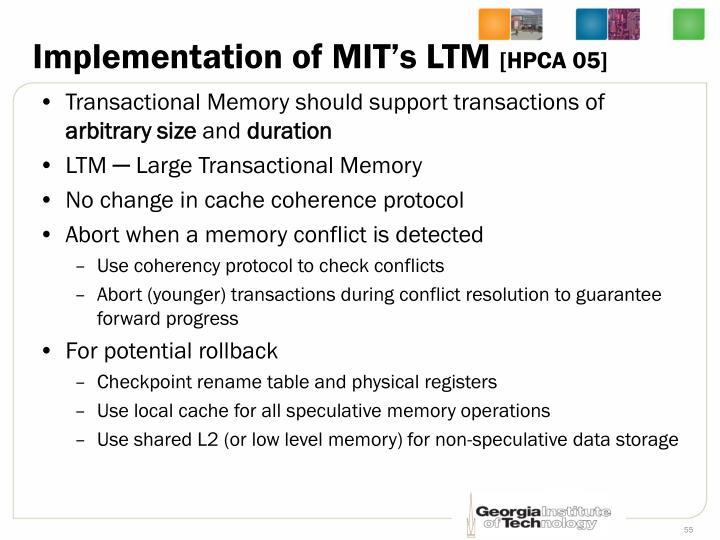 Implementation of MIT's LTM
