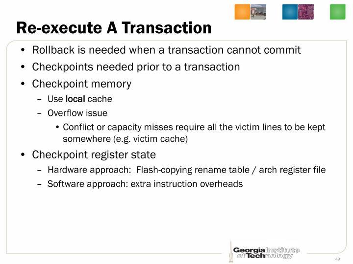 Re-execute A Transaction