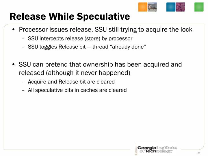 Release While Speculative