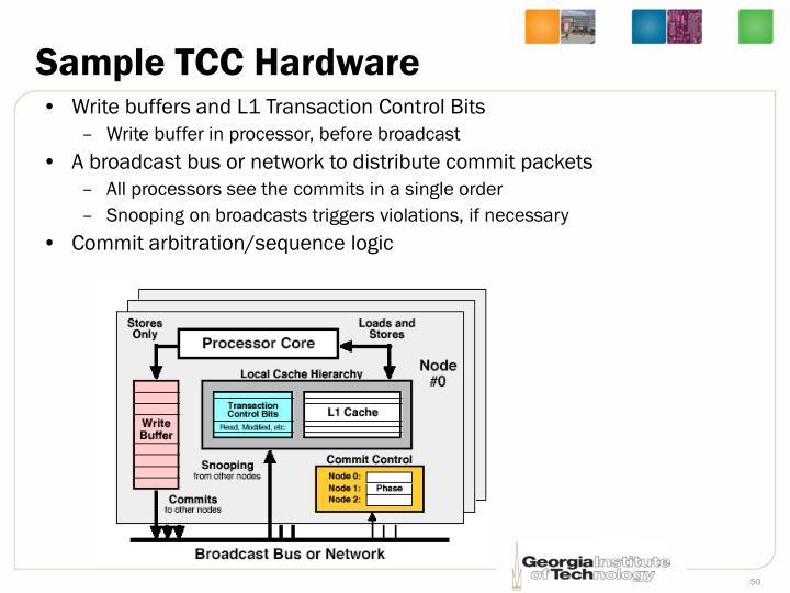 Sample TCC Hardware