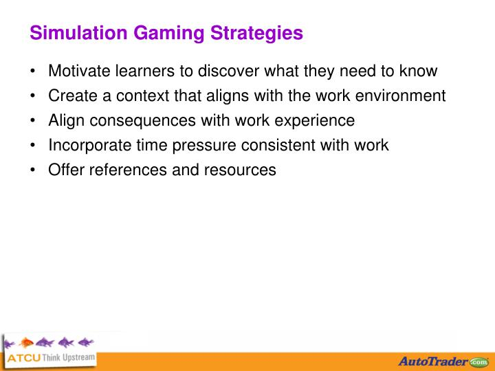 Simulation Gaming Strategies