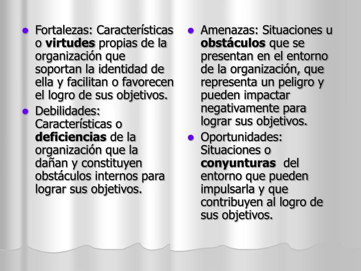 Fortalezas: Características o
