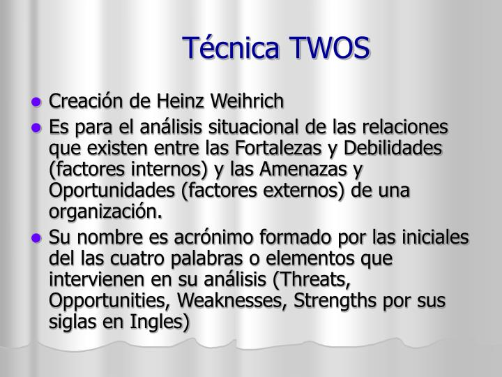 T cnica twos