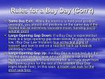 rules for a buy day con t1