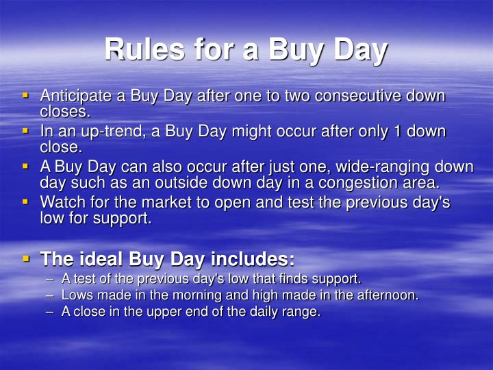 Rules for a Buy Day