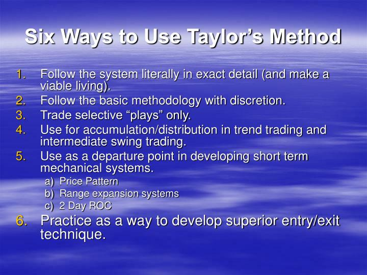 Six ways to use taylor s method