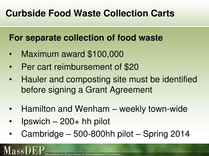 Curbside Food Waste Collection Carts