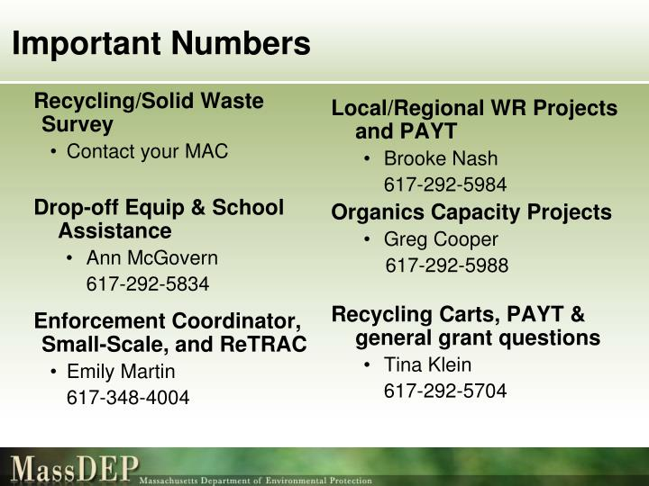 Recycling/Solid Waste Survey