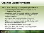 organics capacity projects
