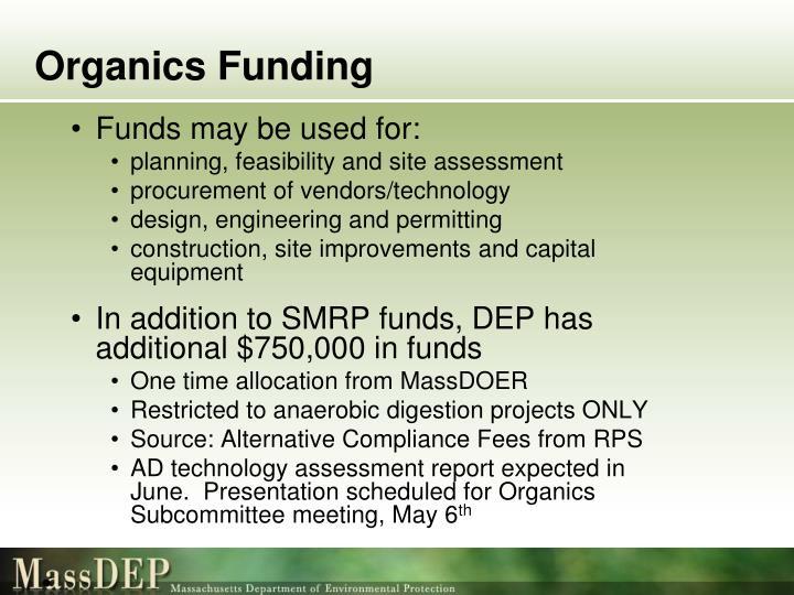 Organics Funding
