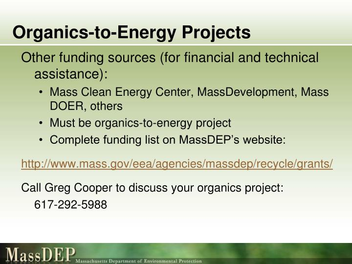 Organics-to-Energy Projects