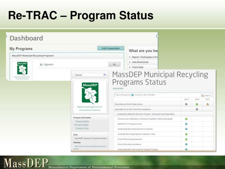 Re-TRAC – Program Status