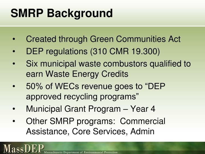 SMRP Background