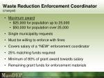 waste reduction enforcement coordinator changed1