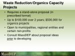waste reduction organics capacity projects