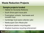 waste reduction projects