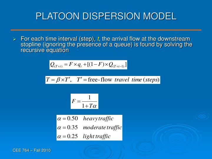 PLATOON DISPERSION MODEL