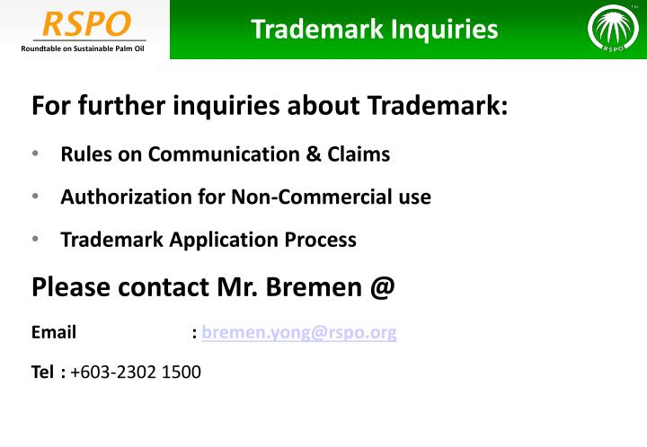 Trademark Inquiries