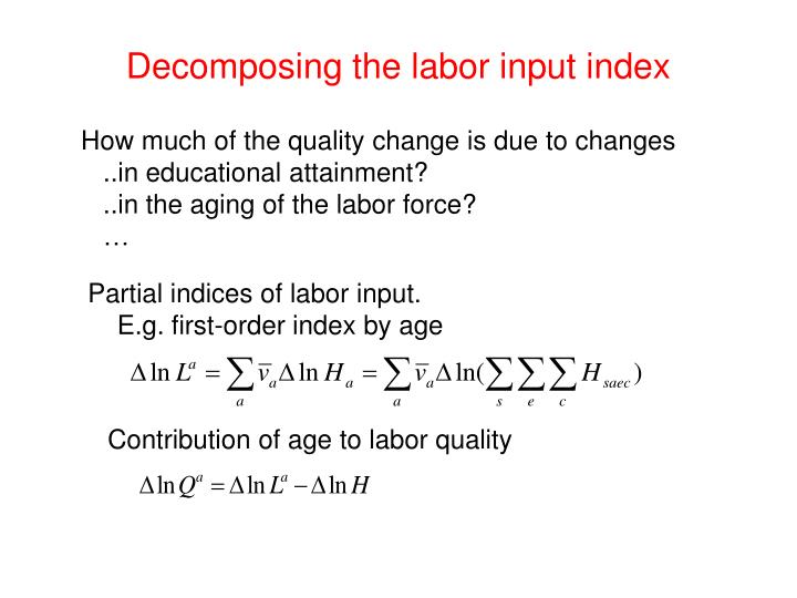 Contribution of age to labor quality