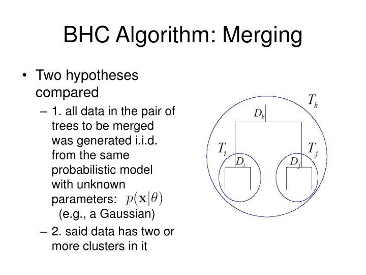BHC Algorithm: Merging