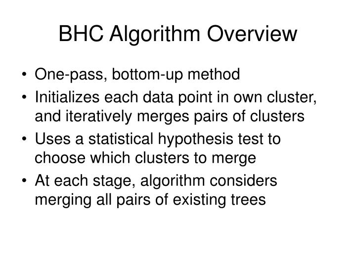BHC Algorithm Overview