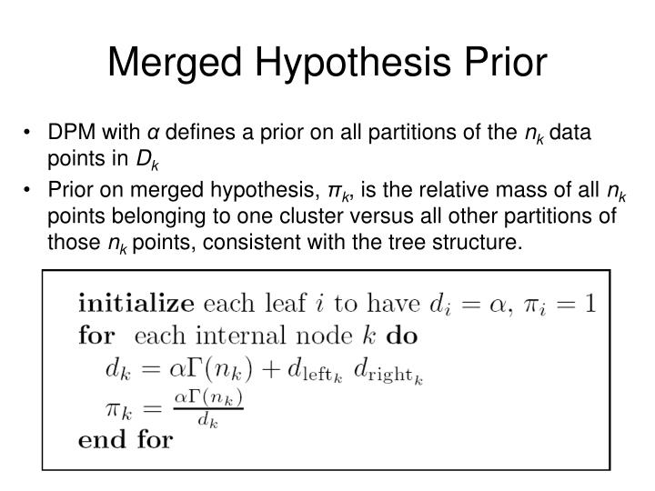 Merged Hypothesis Prior