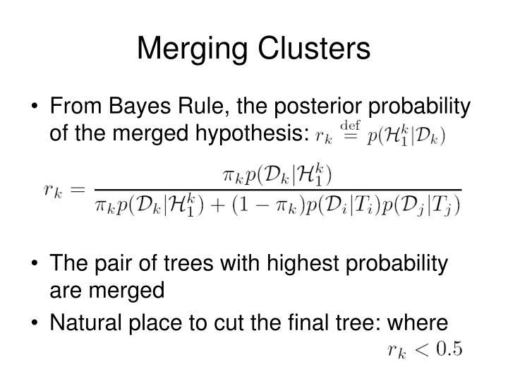 Merging Clusters