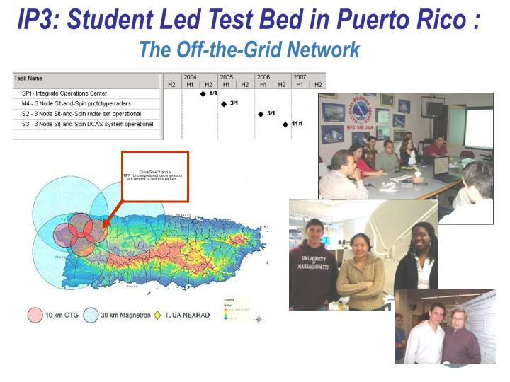 IP3: Student Led Test Bed in Puerto Rico :