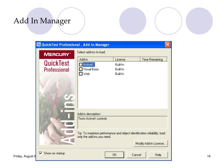 Add In Manager