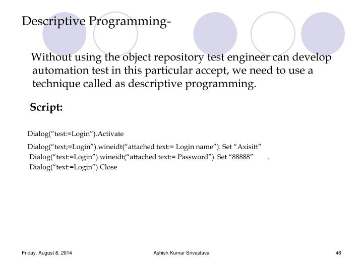 Descriptive Programming-