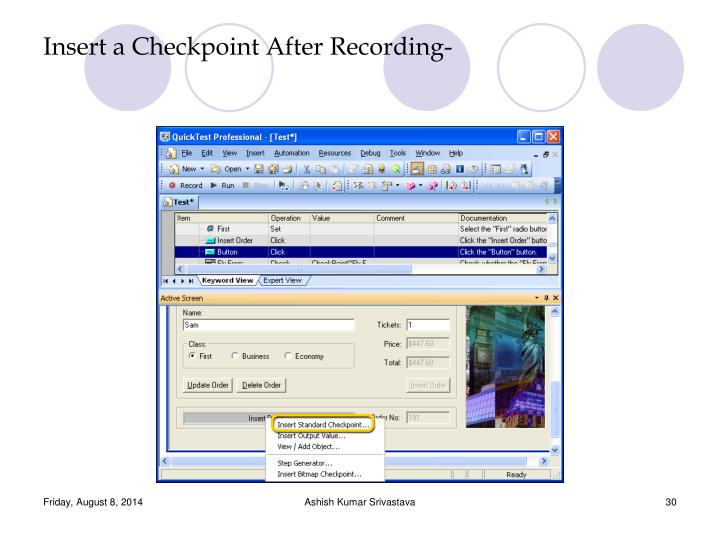 Insert a Checkpoint After Recording-