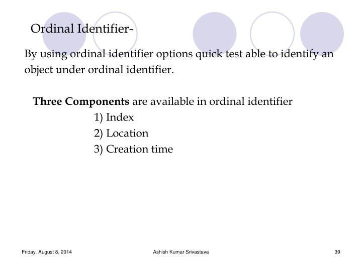 Ordinal Identifier-
