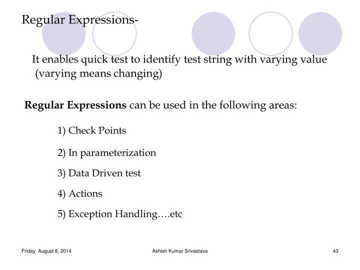 Regular Expressions-