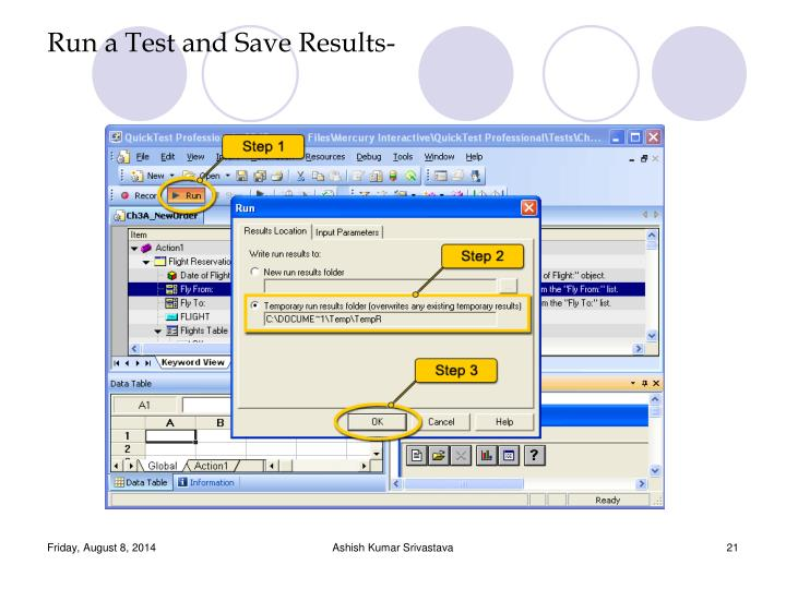 Run a Test and Save Results-