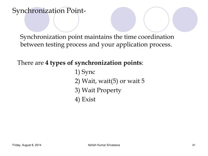 Synchronization Point-