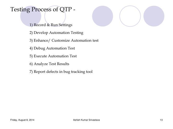 Testing Process of QTP -