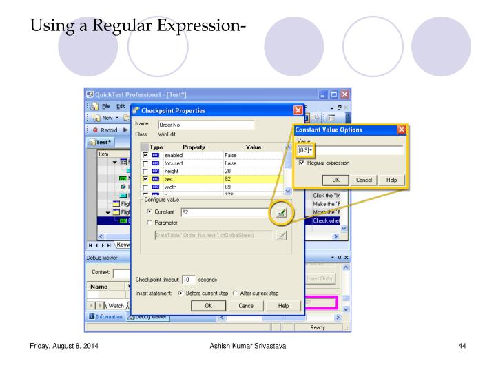 Using a Regular Expression-