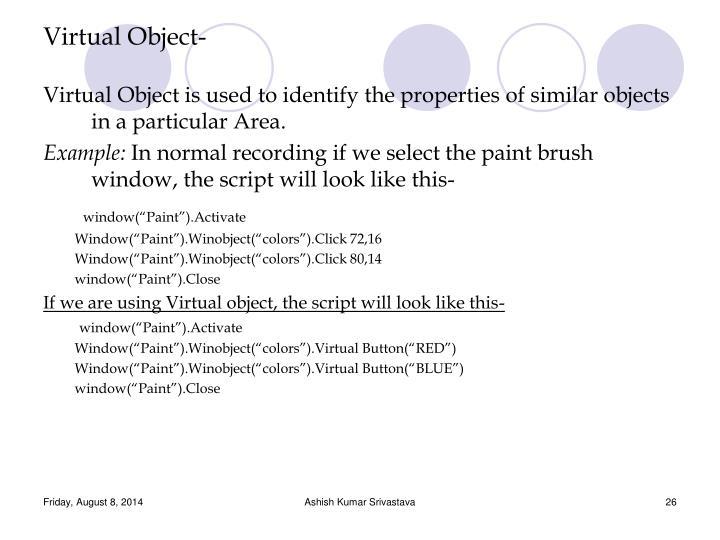 Virtual Object-