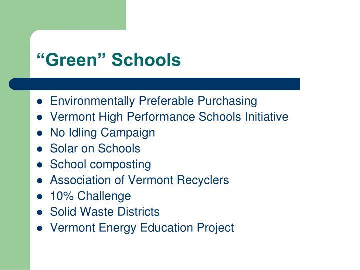 """Green"" Schools"