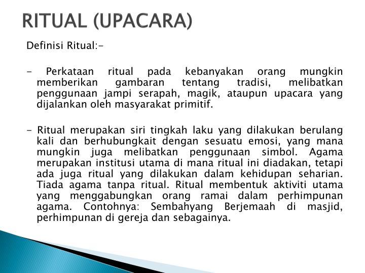 RITUAL (UPACARA)