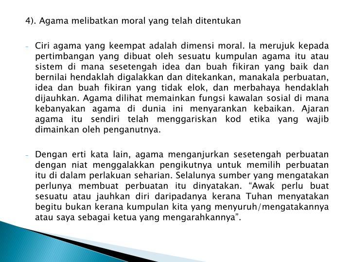 4). Agama