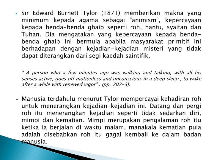 Sir Edward Burnett