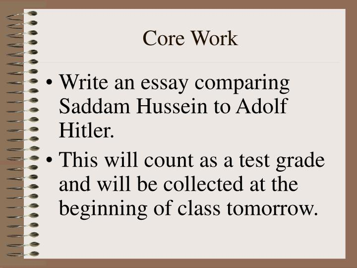 Core Work