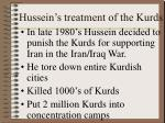 hussein s treatment of the kurds