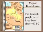 map of kurdish area