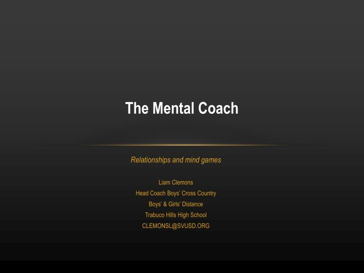 The Mental Coach